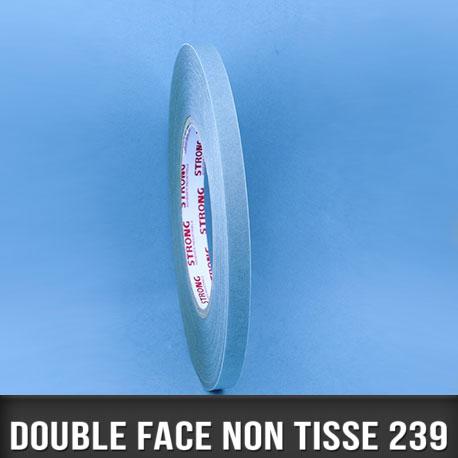 Rouleau d'adhésif double face non tissé 160µ 9mm