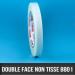 Rouleau d'adhésif double face non tissé 80µ 12mm