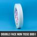 Rouleau d'adhésif double face non tissé 80µ 19mm