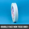Non-tissé double face - 19mm x 50ML  - Adhésif acrylique – Epaisseur 80µ