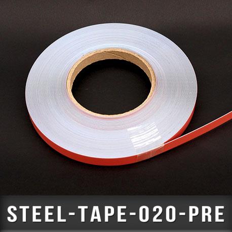 Ruban métallique adhésif Ep 0,2mm l 20mm
