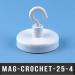 Crochet de supspension magnétique Ø25mm