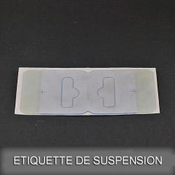 Etiquette de suspension adhésive double volets
