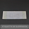 Double Etiquette de suspension Adhésive