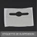 Etiquette de suspension adhésive E-SADT02-HR