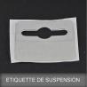 Etiquette de suspension adhésive
