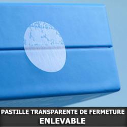 Pastille de fermeture transparente Enlevable Ø25mm