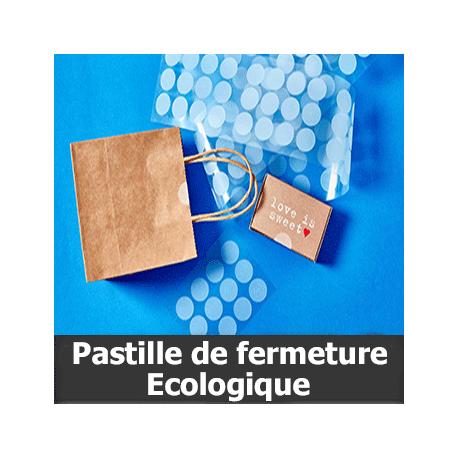 Pastille de fermeture écologique Ø25mm - Adhésif Permanent