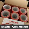 Ruban de marquage au sol - 36 rouleaux 50mm x 66M Rouge