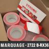 Bande de signalisation sol Rouge/Blanc 50mm X66M - 36 rouleaux