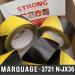 Bande de signalisation adhésive Noir/Jaune 50mm