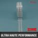 Pastille mousse acrylique gélatine cristal double face UHP 1mm Ø10mm