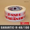 """Film polypropylène """"BANDE DE GARANTIE"""""""