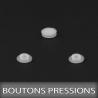 Boutons pressions 2,5mm Blanc