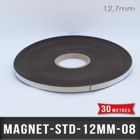 Aimant adhésif Ep 0,8mm l 12,7mm