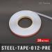 Ruban métallique adhésif Ep 0,2mm l 12,7mm