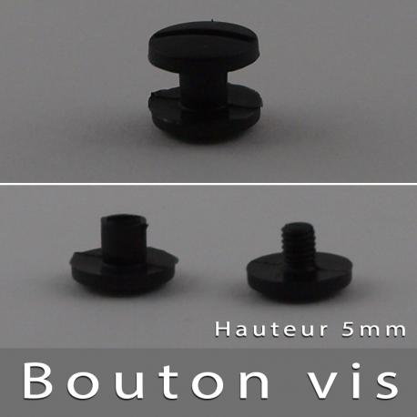 Bouton à vis Noir 5mm