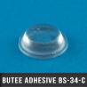 Butée adhésive cylindrique Ø9,5mm H3,2mm Transparent