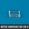 Butée adhésive carrée 10,2mm X2 H5,8mm Transparent
