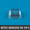 Butée adhésive carrée 19,8mm X2 H6,4mm Transparent