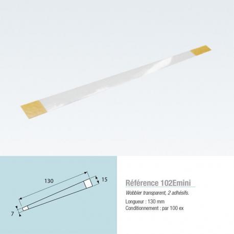 Woblers transparents, 2 adhésifs L210mm