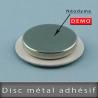 Disc métallique adhésif Ø25mm Ep. 1,6mm