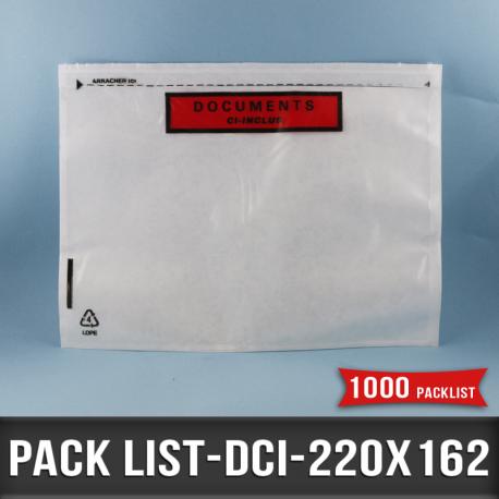 1000 Pack list adhésifs 220X162mm