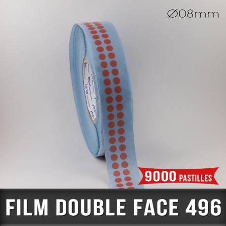 Pastille adhésive double face 200µ Ø8mm