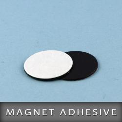 Magnet adhésive en pastille Ø20m Ep. 0.7mm