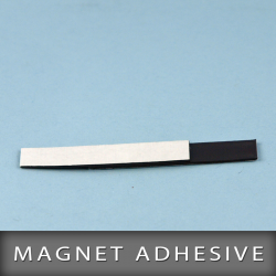 Magnet adhésive en format 10X50mm Ep. 0,5mm