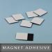 Magnet adhésive en format 25X25mm Ep. 0,5mm