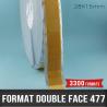 Format mousse noire adhésive double face 0,8mm D 28X15mm