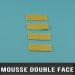 Format mousse adhésive double face 0,8mm D 28X15mm