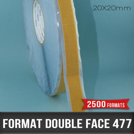Format mousse adhésive double face 0,8mm D 20X20mm