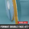 Format mousse noire adhésive double face 0,8mm D 20X20mm