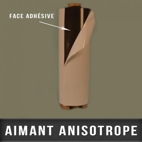Anisotrope adhésif super aimanté