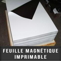 Feuille magnétique imprimable