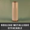Rouleau metallique blanc effaçable EP 0,4mm