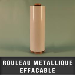 Rouleau metalique blanc effaçable