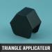 Triangle applicateur pour boîte