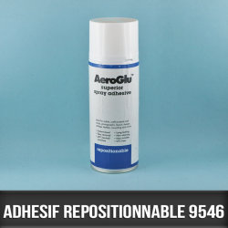 Spray adhésif repositionnable