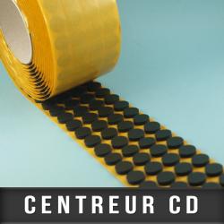 Centreur CD mousse noir