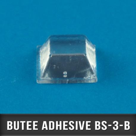 200 Butées adhésives carrées 12,7X2 H5,8mm
