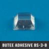 Butée adhésive carrée 12,7mm X2 H5,8mm Transparent