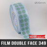 Pastille adhésive double face polypropylène 140µ Ø20mm
