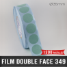 Pastille adhésive double face polypropylène 140µ Ø35mm