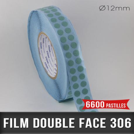 Pastille adhésive double face 85µ Ø12mm