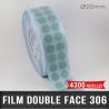 Pastille adhésive double face 85µ Ø20mm