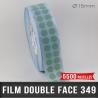 Pastille adhésive double face polypropylène 140µ Ø15mm