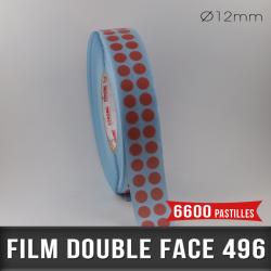 Pastille adhésive double face 200µ Ø12mm